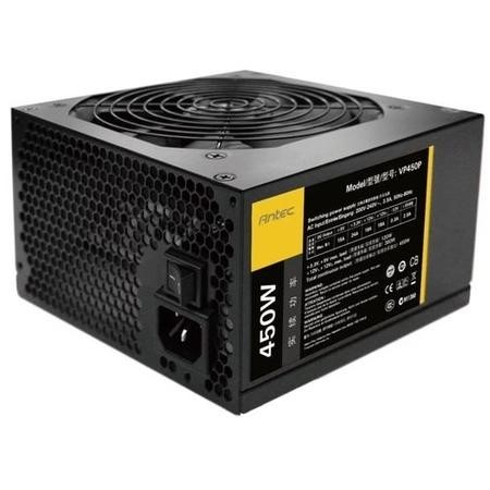 Antec 450W VP450P PSU, ATX V2.3, 12cm Fan, Dual +12V Rails, APFC, Continuous Power