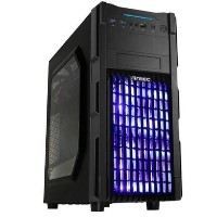 Antec GX-200 Gaming Case with Window, ATX, No PSU, USB 3.0, Tool-less, Blue LED Fans, Black