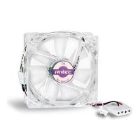 Antec Pro 8cm Clear Case Fan 2600RPM 3-pin with 4-pin Adapter