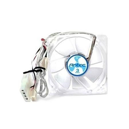 Antec TriCool 12cm Clear Case Fan, 3 Speed, 3-pin with 4-pin Adapter
