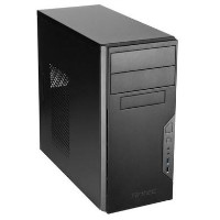 Antec VSK3000B U3/U2 Micro ATX Case, No PSU, 9.2cm Fan, USB 3.0, Black with Black Interior