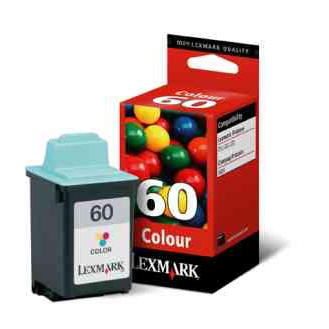 Lexmark No 60 Colour Ink Cartridge for Z12/Z22 and Z32 Colour Jetprinters 0017G0060E
