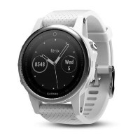 Garmin Fenix 5S 42mm - Silver with Carrara White Band