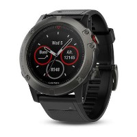 Garmin Fenix 5X Sapphire 51mm - Slate Grey with Black band