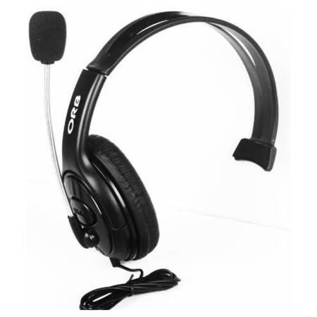 GRADE A1 - ORB Elite Headset - Black with 2.5mm jadapter compatible with Cisco IP phones & Xbox