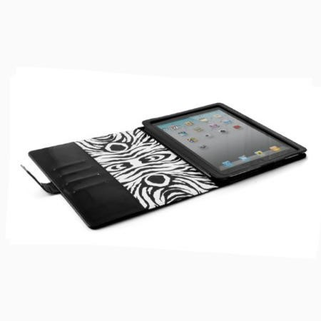Shine Case for The New iPad - Black/Zebra Compatible with iPad 2/3/4
