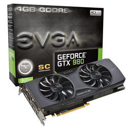 EVGA NVidia GeForce GTX 980 4GB Superclocked ACX Graphics Card