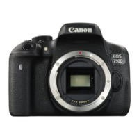Canon EOS 750D SLR Camera Black Body Only 24MP 3.0Touch LCD FHD WiFi
