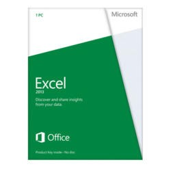 Microsoft Excel 2013 Home and Student 32-bit/64-bit English Medialess Licence