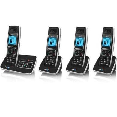 BT 6500 Cordless Telephone with Answer Machine - Quad