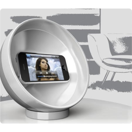 Clingo Parabolic Sound Sphere for Smartphones for MP3 Players