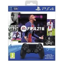 PlayStation 4 Black DualShock 4 Controller + FIFA 21 Game