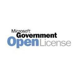 Microsoft® Project License/Software Assurance Pack Government OPEN 1 License No Level