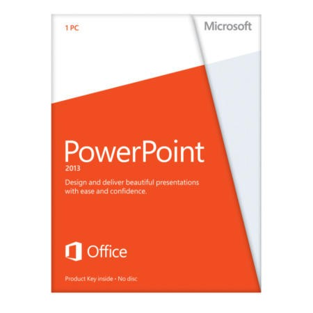 Microsoft PowerPoint 2013 32-bit/64-bit English Medialess Licence