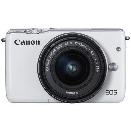 Canon EOS M10 Mirrorless Camera + EF-M 15-45mm Lens - White