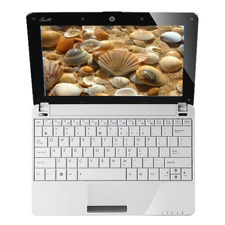 ASUS EeePc 1005HA SeaShell in White - 8 Hours Battery Life