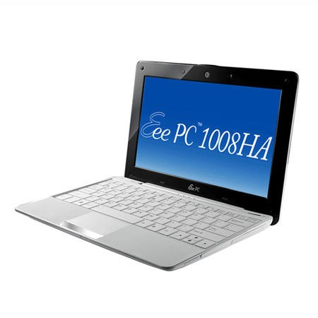 ASUS Eee PC Seashell 1005HA Netbook in White - 10 Hour Battery Life