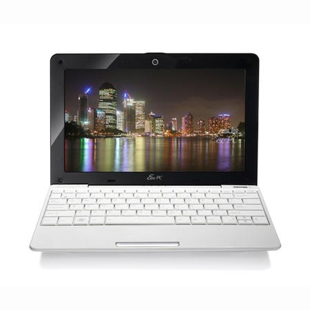 ASUS EeePc 1008HA SeaShell White - 5 Hour Battery Life