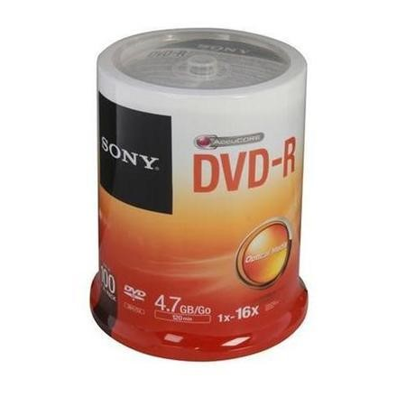 100DMR47SP DVD-R  16X  Spindle 100  Blank Disks