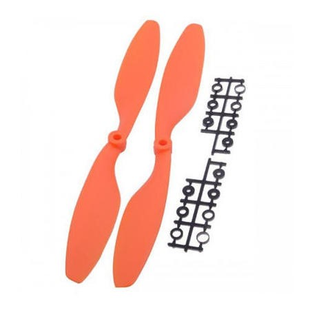 1045-Orange ProFlight 1045 10x4.5 EPP EPP CW & CCW Propeller Pair In Orange