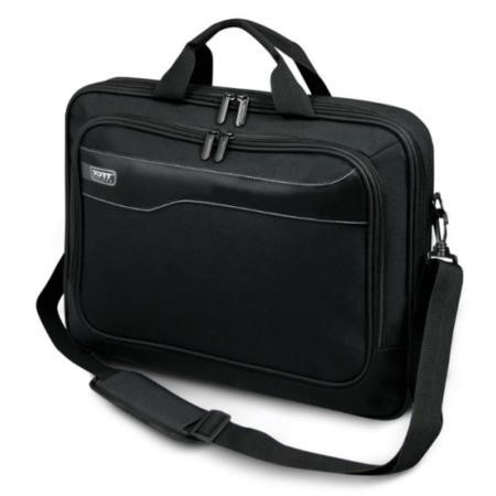"Port Designs Hanoi 17.3"" Laptop Clamshell Bag in Black"