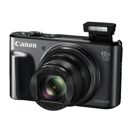 Canon PowerShot SX720 HS Compact Digital Camera - Black