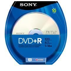 DVD+R  16X  Spindle 10 Pack