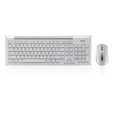 Rapoo 8200P 5GHz Wireless Desktop Combo Set White UK Layout