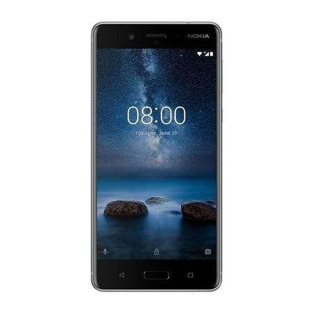 "11NB1S01A11 Nokia 8 Steel 5.3"" 64GB 4G Unlocked & SIM Free"