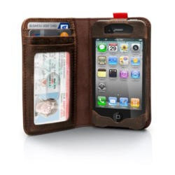 Twelve South BookBook Leather Case for iPhone 4 /4S - Brown