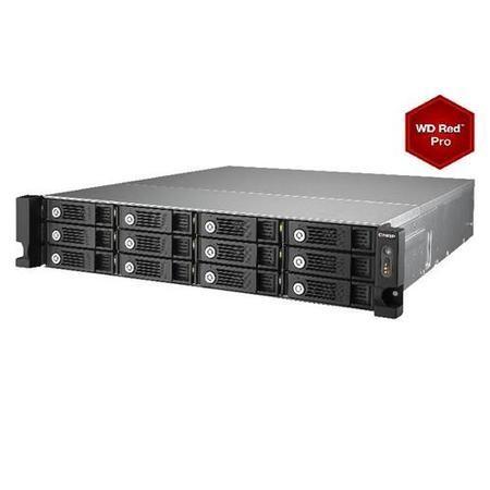 QNAP TS-1253U 72TB 12 x 6TB WD RED PRO HDD