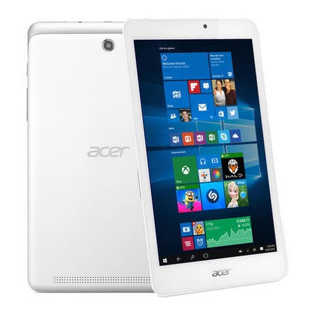 "A3/nt.l7gek.002 Refurbished Acer Iconia 8"" Intel Atom Quad Core Z3735G 1.33GHz 1GB 32GB Windows 10 Tablet in White"
