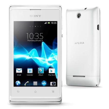 "Sony XPERIA E - Android Phone - GSM / UMTS - 3G - 4 GB - 3.5"" - TFT - white"