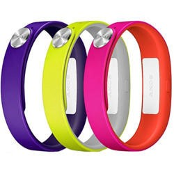 Sony Mobile Small A1 SmartBand Wrist Straps - Purple/Yellow/Pink