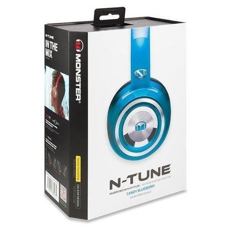 Monster NTune Candy Blue On-Ear Headphones