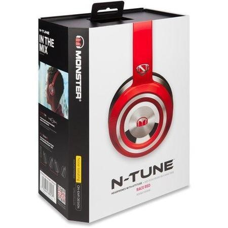 Monster NTune Solid Red On-Ear Headphones