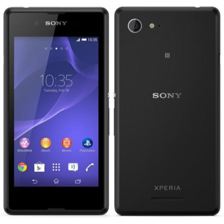Sony Xperia E3 Sim Free Black Mobile Phone