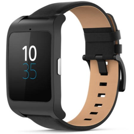 Sony SWR50 SmartWatch 3 Black / Black Leather
