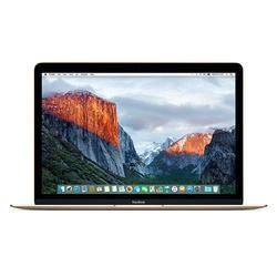 Apple MacBook Intel Core M3 1.1GHz 256GB 12 Inch OS X 10.12 Sierra Laptop - Gold 2016