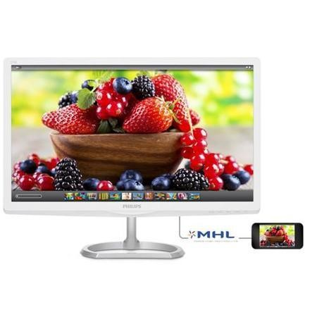 "Philips E-line 276E6ADSS - LED monitor - 27"" - 1920 x 1080 FullHD - ADS-IPS - 300 cd/m2 - 1000_1 - 5 ms - DVI-D VGA HDMI MHL - glossy silver"