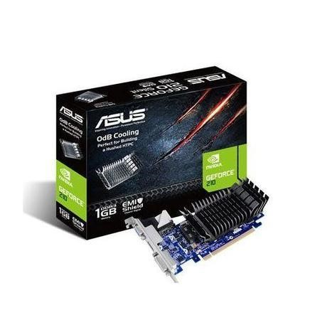 ASUS NVIDIA GT 210 SILENT 589MHz 1200MHz 1GB 64-bit DDR3 DUAL-LINK DVI-I HDMI PASSIVE LOW PROFILE DOESN T COME WITH BRACKET PCI-E GRAPHICS CARD