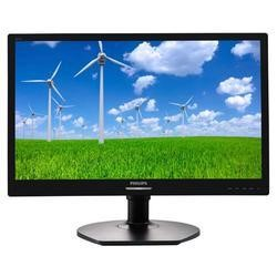 "Philips 22"" Black Full HD LED Monitor 1920 x 1080 Height adjustable VGA and DVI-D"