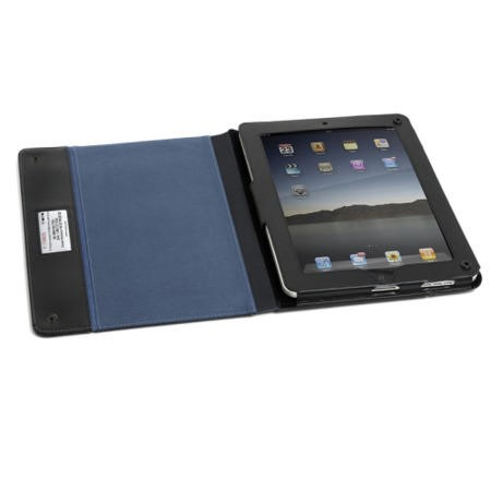 Knomo iPad/Tablet Folio Leather Case in Black
