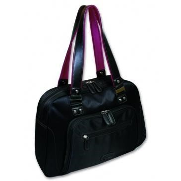 "Port Designs Adelaide 15.6"" Laptop Bag - Black/Pink"