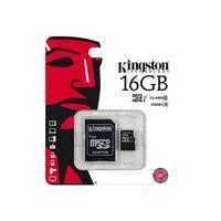 Kingston 16GB MicroSD Class 10 Card with Adapter