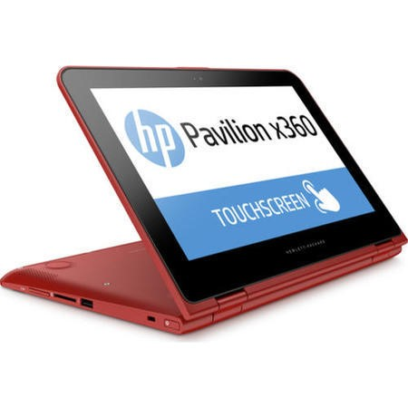 "A1/N7H55EA Refurbished HP 11.6""  Pavilion x360 11-k152sa Intel Celeron N3050 1.6GHz 4GB 500GB Windows 10 Laptop in Red"