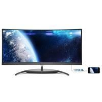 "Philips BDM3490UC DP USB HDMI 34"" UltraWide LED Monitor"
