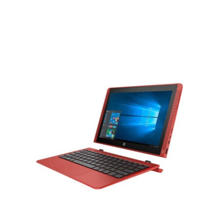 "A1/P0H48EA Refurbished HP 10-N102NA 10.1"" Intel Atom Z8300 2GB 32GB Win10 2-in-1 Convertible Touchscreen Laptop in Red"