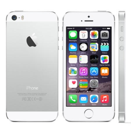 "Refurbished Apple iPhone 5s Silver 4"" 16GB 4G Unlocked & SIM Free"