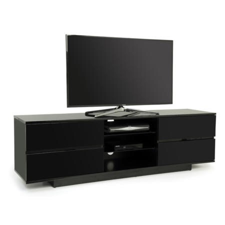 GRADE A2 - Light cosmetic damage - Ex Display - As new but box opened - MDA Designs Avitus TV Cabinet in Black High Gloss - up to 65 inch